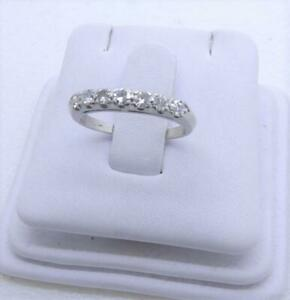 Vintage Platinum Diamond Anniversary Wedding Ring Band 0.70 Carat Size 5