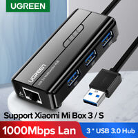 Ugreen Gigabit Ethernet 3 Ports USB 3.0 2.0 Hub RJ45 Network Adapter for MacBook