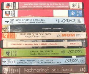 """LOT (9) 7"""" REEL TO REEL FACTORY TAPES + BOXES~ALL CLASSICAL EASY GREATS~LOT # 2"""