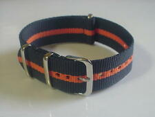 Skunk Bond Nylon G10 Military 20mm strap band fits Timex Weekender + ZULU watch