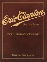 ERIC CLAPTON / MUDDY WATERS 1979 BACKLESS TOUR CONCERT PROGRAM BOOK / NMT 2 MINT