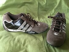 NUC 11 1/2 46 COCOA ADIDAS ADI RACER LOW SUEDE/LEATHER DRIVING SHOES GOODYEAR NC