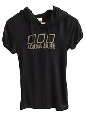 Lorna Jane Short Sleeve Hoodie Black Sz S