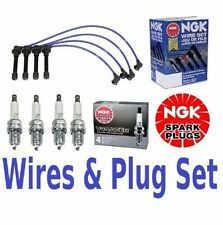 NGK Wires Set & 4-Pieces NGK Spark Plugs Civic 1.6 Liter NEW
