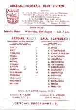 Arsenal XI V EPA Cyprus , 30th August 1967