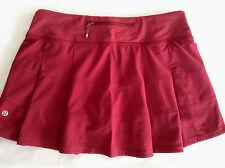 NWT Lululemon Pace Rival Skirt II*R Size 10 Rosewood  W/lulu Bag