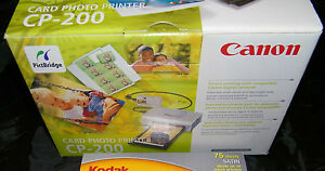 Canon Selphy CA-CP200 Compact Thermal Photo Card Printer - Mint Condition In Box