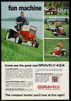 1968 GRAVELY Model 424 Lawn and Garden Tractor Riding Mower AD