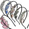 Cerchietto Leaf accessori capelli foglia strass fermacapelli acconciatura donna