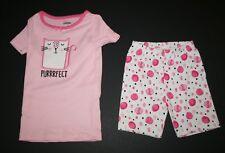 NEW Gymboree Gymmies Short PJs Purrrrfect Sleepy Kitty Cat Pajamas Size 4 yr NWT
