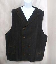 "Vittorio St. Angelo Mens 54"" Chest Denim Vest Jacket Blue Pockets - Missing TAGS"
