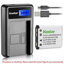 Kastar Battery LCD Charger for Fujifilm NP-45 NP-45A FinePix JV160 FinePix JV200