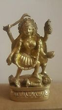"Hindu Goddess Kali Deva Yoga Studio Altar Meditation India Brass Statue 6"""