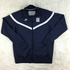 Nike Women's Size XL (16-18) USA Vancouver 2010 Olympics Blue Full Zip Jacket