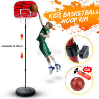 Free Standing Basketball Hoop Net Kids Backboard Stand Set Adjustable Portable