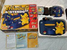 Nintendo 64 Pokémon Pikachu Edition Blue & Yellow Console in box