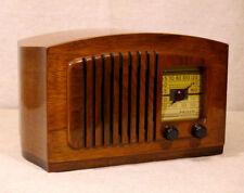 Old Antique Wood Philco Vintage Tube Radio - Restored & Working w/ Violin Back