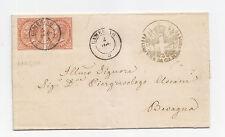 U519-MARCHE-D.L.R.10 + 10 CENT DA CAMERINO A BEVAGNA 1865