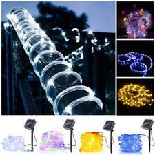 Solar Waterproof LED String Tube Fairy Lights For Christmas Outdoor Party Garden