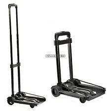Folding Cart Dolly Push Luggage Hand Truck Collapsible Trolley Metal & wheel New