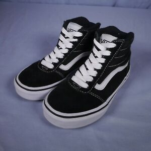 Vans Off The Wall Black & White Sneakers Youth Size 12 Shoe