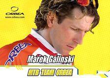 CYCLISME carte cycliste MAREK GALINSKI équipe MTB TEAM ORBEA