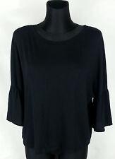Zara Trafaluc Black Short Sleeve Women's Top Size:M Cotton Blend