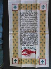 Linen Souvenir Towel: LOUISIANA