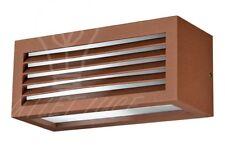 applique lampada parete esterno giardino balcone finitura ruggine attacco E27