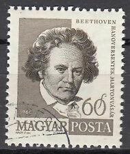 Ungarn Briefmarke gestempelt Beethoven Komponist Pianist Deutschland Musik /1298