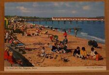 Postcard Posted 1968 Devon, The beach and Pier Paignton