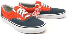 Van's Era Men's Canvas Dark Slate/Cherry Tomato Lace-Up Pump Trainers Sneakers
