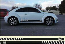 Volkswagen Beetle Jetta Passat Turbo R type Rocker Panel Decals Side Stripes