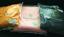 VEUVE CLICQUOT CHAMPAGNE CUSHION X1 x YELLOW1x PINK AND1x BLACK NEW IN POLY BAG