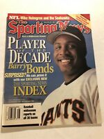 1999 Sporting News SAN FRANCISCO Giants BARRY BONDS No Label PLAYER OF DECADE