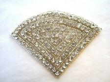 WHITE PEARLED AND BEADED FLOWER APPLIQUE 2774-D