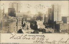 Pittsburgh PA Skyscrapers c1905 Real Photo Postcard