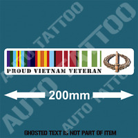 AUSTRALIAN VIETNAM VETERAN RIBBONS Decal Sticker Retro Vintage Proudly Served