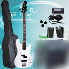 White Quality Electric Bass Guitar with 20W AMP