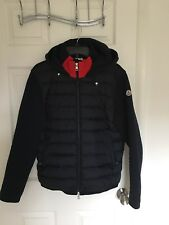 MONCLER Down Cotton Hoodie Jacket Navy M
