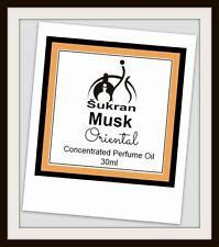 MUSK Oriental Perfume Oil by Sukran ~30ml~