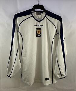 Scotland L/S Away Football Shirt 2003/05 Adults Medium Diadora D991