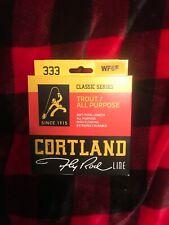 Cortland 351479 Classic 333 Flyline WF6F Yellow Fishing Line 90 FT Total Length!