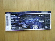 Ed Sheeran Open-Air Tour 2019 Ticket Hockenheim-Ring 22.06.19 Konzertkarte