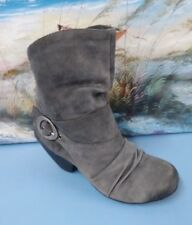 Dr Scholls Women Boots Grey Ankle Booties Wedges Sz:5M