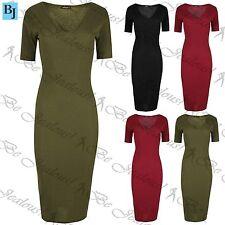 Unbranded Women's Short Sleeve V Neck Wiggle, Pencil Dresses