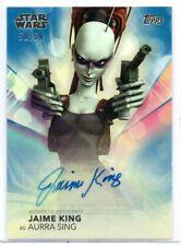 JAIME KING as Aurra Sing / Women of Star Wars BLUE Autograph Card A-JK 50/50
