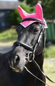 New Hi Vis Reflective Horse Fly Veil Ear Bonnet High Visibility All Colours Size