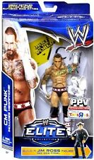 WWE ELITE CM PUNK BUILD A JIM ROSS FIGURE BOPPV TRU EXCLUSIVE BAF US VERSION