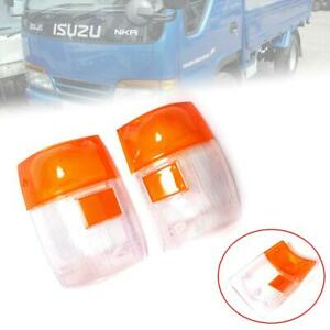 Side Corner Lamp Light Lens For Isuzu Truck GMC Elf Npr Nqr Nkr 1999-2006